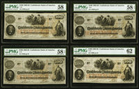 T41 $100 1862 Cr. 317A (3); Cr. 318A PMG Choice About Uncirculated 58; PMG Choice About Uncirculated 58 EPQ (2); PMG Unc...