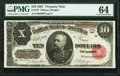 Large Size:Treasury Notes, Fr. 370 $10 1891 Treasury Note PMG Choice Uncirculated 64.. ...