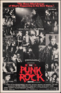 """Movie Posters:Documentary, The Punk Rock Movie (Cinematic Releasing, 1978). Rolled, Fine+. One Sheet (27"""" X 41""""). Documentary.. ..."""