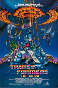 """Transformers: The Movie (DEG, 1986). Rolled, Very Fine. One Sheet (27"""" X 41"""") SS. Animation"""