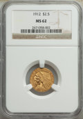 Indian Quarter Eagles: , 1912 $2 1/2 MS62 NGC. NGC Census: (2724/1779). PCG...