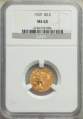 Indian Quarter Eagles: , 1929 $2 1/2 MS62 NGC. NGC Census: (8068/9447). PCG...