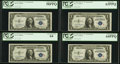 Fr. 1609 $1 1935A R Silver Certificates. Twelve Consecutive Examples. PCGS Graded. ... (Total: 12 notes)