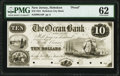 Bergen Iron Works, NJ- Ocean Bank $10 Mar. 1, 1851 as G2 as Wait 64 Proof PMG Uncirculated 62