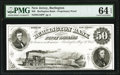 Obsoletes By State:New Jersey, Burlington, NJ- Burlington Bank $50 Aug. 30, 1855 as G16 as Wait 240 Proprietary Proof PMG Choice Uncirculated 64 EPQ.. ...