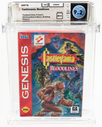 Castlevania: Bloodlines Wata 9.2 A++ Sealed GEN Konami 1994 USA