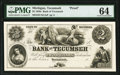 Obsoletes By State:Michigan, Tecumseh, MI- Bank of Tecumseh $2 18__ as G24 Lee TEC-3-2 PMG Choice Uncirculated 64.. ...