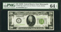 Small Size:Federal Reserve Notes, Fr. 2052-I $20 1928B Light Green Seal Federal Reserve Note. PMG Choice Uncirculated 64 EPQ.. ...