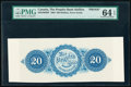 Canada Halifax, NS- People's Bank of Halifax $20 25.5.1864 Pick S1290p Ch.# 580-10-02BP Back Proof PMG Choice Uncirculat...