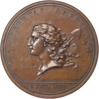 (1782) Medal Libertas Americana Copper MS63 Brown NGC. CAC. Loubat-14, Betts-615....(PCGS# 151815)