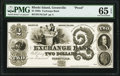 Obsoletes By State:Rhode Island, Greenville, RI- Smithfield Exchange Bank $2 July 4, 1848 G52 Durand 473 Proof PMG Gem Uncirculated 65 EPQ.. ...