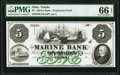 Obsoletes By State:Ohio, Toledo, OH- Marine Bank $5 18__ UNL Wolka 2562-05 Proprietary Proof PMG Gem Uncirculated 66 EPQ.. ...