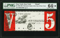Obsoletes By State:New York, New York, NY- Mechanics' Bank of the City of New York $5 18__ as G216b Proof PMG Choice Uncirculated 64 EPQ★ .. ...
