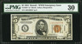 Fr. 2301* $5 1934 Hawaii Federal Reserve Note. PMG Very Fine 30