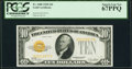 Fr. 2400 $10 1928 Gold Certificate. PCGS Superb Gem New 67PPQ