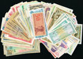 A World Group of mostly Asian Banknotes That Includes Bangladesh; India; Mongolia; Indonesia; South Vietnam; Laos; Cambo...