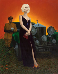 Pritchard (American, 20th Century) Thelma Todd, 1968 Oil on canvas 61 x 47-1/2 inches (154.9 x 12