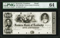 Obsoletes By State:Kentucky, Frankfort, KY- Farmers Bank of Kentucky $100 18__ G214 Hughes 265 Proof PMG Choice Uncirculated 64.. ...