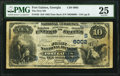 National Bank Notes:Georgia, Fort Gaines, GA - $10 1882 Date Back Fr. 545 The First National Bank Ch. # (S)6002 PMG Very Fine 25.. ...