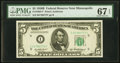 Small Size:Federal Reserve Notes, Fr. 1963-I* $5 1950B Federal Reserve Note. PMG Superb Gem Unc 67 EPQ.. ...
