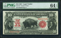 Fr. 116 $10 1901 Legal Tender PMG Choice Uncirculated 64 EPQ
