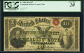 Large Size:Compound Interest Treasury Notes, Fr. 190b $10 1864 Compound Interest Treasury Note PCGS Ver...