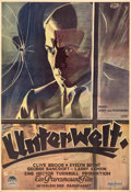 """Movie Posters:Crime, Underworld (Paramount, 1928). Very Fine+ on Paper. German Poster (37.75"""" X 55""""). Schulz Neudamm Artwork. From the Mike Kap..."""