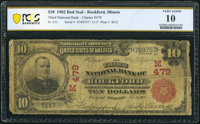 Rockford, IL - $10 1902 Red Seal Fr. 613 The Third National Bank Ch. # (M)479 PCGS Banknote Very Good 10