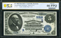 National Bank Notes:Kentucky, Louisville, KY - $5 1882 Date Back Fr. 537 The National Bank of Kentucky Ch. # (S)5312 PCGS Banknote Gem Unc 66 PPQ....