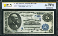 Louisville, KY - $5 1882 Date Back Fr. 537 The National Bank of Kentucky Ch. # (S)5312 PCGS Banknote Gem Unc 66 PPQ
