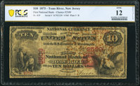 Toms River, NJ - $10 1875 Fr. 419 The First National Bank Ch. # 2509 PCGS Banknote Fine 12 Details
