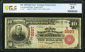 National Bank Notes:Pennsylvania, Scranton, PA - $10 1902 Red Seal Fr. 613 The First National Bank Ch. # (E)2697 PCGS Banknote Very Fine 25.. ...