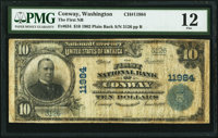 Conway, WA - $10 1902 Plain Back Fr. 634 The First National Bank Ch. # 11984 PMG Fine 12
