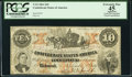 Confederate Notes:1861 Issues, T23 $10 1861 Cr. 154 PCGS Apparent Extremely Fine 45, CC.. ...