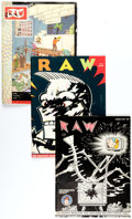 Modern Age (1980-Present):Alternative/Underground, RAW Group of 9 (RAW, 1980-87) Condition: Average FN.... (Total: 9 Items)