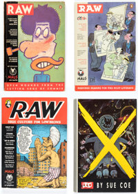 Raw Volume 2 Plus Group of 5 (RAW, 1980s-90s) Condition: Average FN.... (Total: 5 Items)