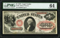 Large Size:Legal Tender Notes, Fr. 26 $1 1875 Legal Tender PMG Choice Uncirculated 64.. ...