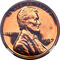 Proof Lincoln Cents, 1937 1C PR67 Red Cameo NGC....