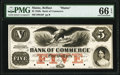 Obsoletes By State:Maine, Belfast, ME- Bank of Commerce $5 18__ as G8c Proof PMG Gem Uncirculated 66 EPQ.. ...