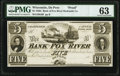 Obsoletes By State:Wisconsin, Depere, WI (Terr.)- Bank of Fox River Hydraulic Company $5 18__ as G6 as Krause G6 Proof PMG Choice Uncirculated 6...