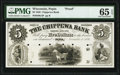 Obsoletes By State:Wisconsin, Pepin, WI- Chippewa Bank $5 Nov. 1, 1856 G4 Krause...