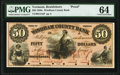 Brattleboro, VT- Windham County Bank $50 Mar. __, 18__ as G14a as Coulter 56 Proof PMG Choice Uncirculated 64