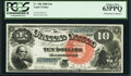 Large Size:Legal Tender Notes, Fr. 106 $10 1880 Legal Tender PCGS Choice New 63PPQ.. ...