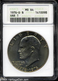 Eisenhower Dollars: , 1976-D Type One MS64 ANACS. ...