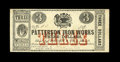 Obsoletes By State:Louisiana, New Orleans, LA- Patterson Iron Works $3 April 5, 1862. ...