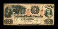 Canadian Currency: , Toronto, ON- Colonial Bank of Canada $2 May 4, 1859 Ch. 130-10-04-04. ...