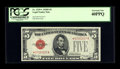 Small Size:Legal Tender Notes, Fr. 1529* $5 1928D Legal Tender Note. PCGS Extremely Fine 40PPQ.. ...