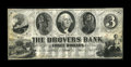 Obsoletes By State:Indiana, Columbia, IN- The Drovers Bank $3 Aug. 1, 1859 G6 Wolka 120-3. ...