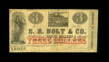 Obsoletes By State:Louisiana, New Orleans, LA- S.B. Holt $3 March 29, 1862. ...