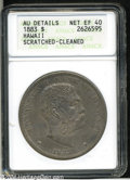 Coins of Hawaii: , 1883 Hawaii Dollar XF40--Scratched, Cleaned--ANACS, AU ...